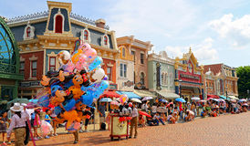 Main street disneyland, hong kong Stock Photo