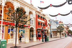 Main street is in the Disneyland Paris. France. Europe. Royalty Free Stock Image