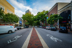 Main Street in downtown Columbia, South Carolina. Royalty Free Stock Images