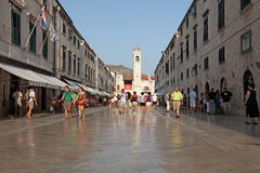 Main street in Dubrovnik Stock Photo