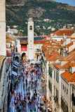 Main street of Dubrovnik Royalty Free Stock Photo