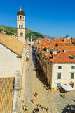 Main street dubrovnik Royalty Free Stock Photo
