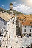 The main street of Dubrovnik the Placa Stradum, Croatia Stock Images