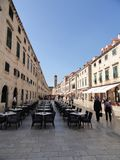 The Main Street Of Dubrovnik Stock Photography