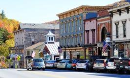 Main Street em Bristol, Vermont imagens de stock