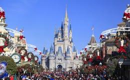 Main Street en Cinderella Castle in Magisch Koninkrijk, Florida Royalty-vrije Stock Foto