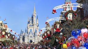 Main Street en Cinderella Castle in Magisch Koninkrijk, Florida Stock Fotografie