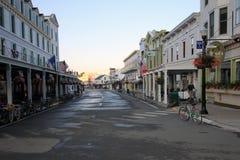 Main Street en la isla de Mackinac Fotos de archivo