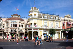 Main Street EUA, reino mágico, Walt Disney World Fotos de Stock Royalty Free