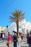 Main street Fira Santorini Greece Royalty Free Stock Photos