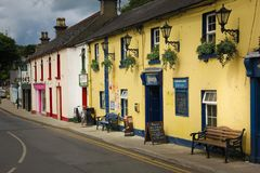 Main street and Fitzgerald pub. Avoca. Wicklow. Ireland Royalty Free Stock Photography
