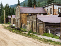 Main street in Ghost Town of St Elmo stock photography