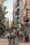 Main Street Gibraltar.  Royalty Free Stock Photo