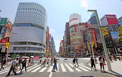 The main street in Ginza - Tokyo Stock Image