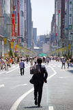 The main street in Ginza - Tokyo Royalty Free Stock Photo