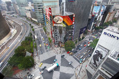 The main street in Ginza - Tokyo Royalty Free Stock Photography