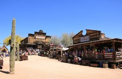 Main Street of Goldfield Ghost Town - Arizona, USA Royalty Free Stock Image