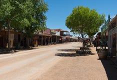 Main Street gravsten, Arizona royaltyfria foton