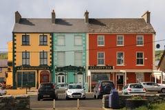 Main Street Greencastle Inishowen Donegal ireland arkivbild