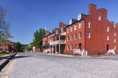 Main street of Harpers Ferry a national park Royalty Free Stock Photos