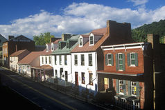 Main Street in Harpers Ferry, WV Royalty Free Stock Photo