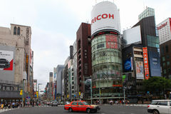 Main street of High end Ginza district Stock Images