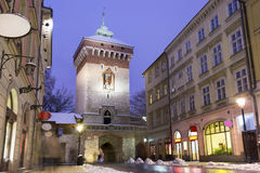 Main street in historic Krakow, Poland Royalty Free Stock Image