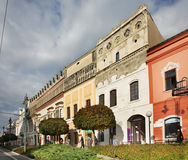 Main Street (Hlavna ulica) i Presov slovakia Arkivfoton