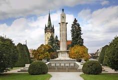 Main Street (Hlavna ulica) i Presov slovakia arkivbilder
