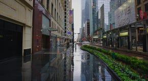 Main Street, Houston, die Noordoosten kijken Stock Foto's
