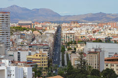 Main Street i Alicante Fotografering för Bildbyråer