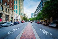Main Street i i stadens centrum Columbia, South Carolina Arkivbilder