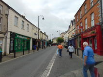 Main Street i Portlaoise Arkivfoto
