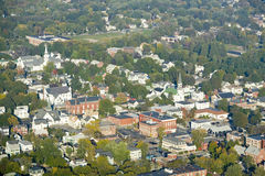 Main Street i staden av Saco, Maine Royaltyfria Bilder