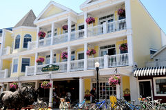 Main street inn, Mackinac island michigan. Image of the Main Street Inn Mackinac island michigan Stock Photos