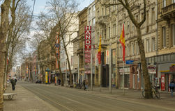 Main street in Karlsruhe, Germany Stock Photography