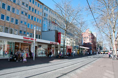 Main street in Karlsruhe, Germany Royalty Free Stock Photo