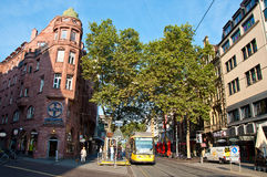 Main street in Karlsruhe in the morning, Germany Stock Photo