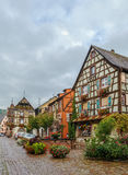 Main street in Kaysersberg, Alsace, France Royalty Free Stock Photography