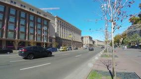 The main street of Kiev stock video footage