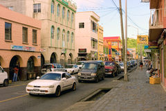 Main street kingstown, st. vincent Stock Photo