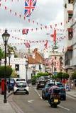 Main Street, la rue artérielle principale dans le territoire d'outre-mer britannique du Gibraltar photo stock