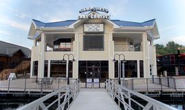 Main Street Lake Cruises Building at the Branson Landing in downtown Missouri Stock Photography