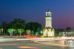 Main street in lampang Thailand. Main street circle in lampang province Thailand with long exposure Royalty Free Stock Image
