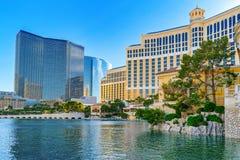Main street of Las Vegas is the Strip. Casino, hotel and resort Bellagio. Las Vegas, Nevada, USA - September 15, 2018: Main street of Las Vegas is the Strip royalty free stock photography