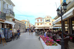 Main street Lefkada, Greece Royalty Free Stock Photography