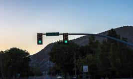 Main Street ljus Arkivbilder