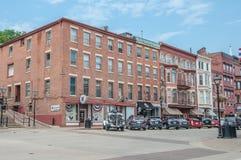 Main Street -Loodglans Illinois Stock Afbeeldingen