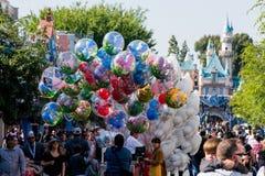 Main Street los E.E.U.U. en Disneyland Imágenes de archivo libres de regalías