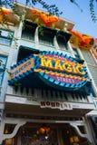 Main Street magiskt lager Disneyland Anaheim royaltyfri foto